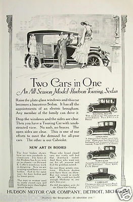 1915 Hudson Motor Car Co. Print Ad,new Art In Bodies