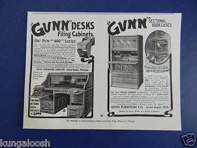 "1905 You Dont Get Done When You Buy A ""gunn"" Desks And Book Cases Vintage Ad"