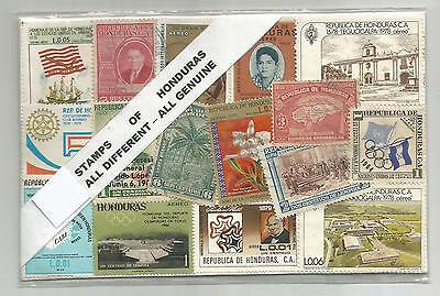 Honduras. Stamp Lot. 100 Stamps of Honduras. All Genuine.All different.
