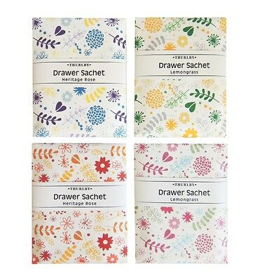 Thurlby Garden Party Drawer Sachets - Heritage Rose & Lemongrass.