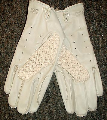 Good Hands Horse Riding Gloves Deerskin Leather Extra Large Cream Rrp 69.95 New