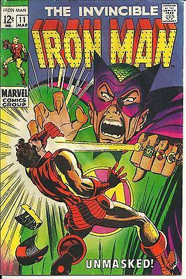Marvel 1968 The Invincible Iron Man #11 Silver Age