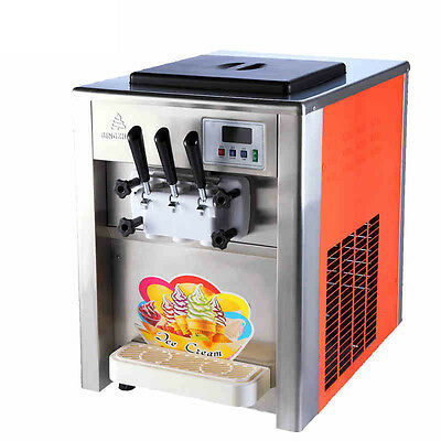 Commercial 18L/H 3 Flavor ice cream maker Soft ice cream making machine 220V