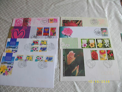 8 Australian First Day Covers Various 1990's Mint Condition