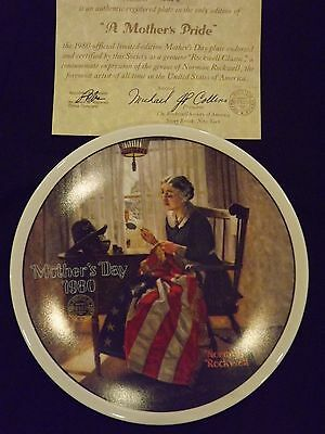 "Normal Rockwell 1980 ""A Mother'sPride"" Collector's Plate in Original Box"