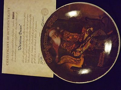 "Normal Rockwell 1979 ""Christmas Dream"" Collector's Plate in Original Box"