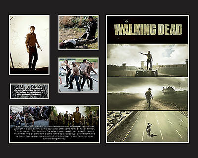 "The Walking Dead Memorabilia 16x20"" Black/White Limited Edition FRAMED"