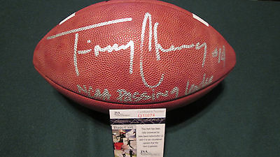 Timmy Chang Hawaii Warriors signed NCAA Leather Game football JSA