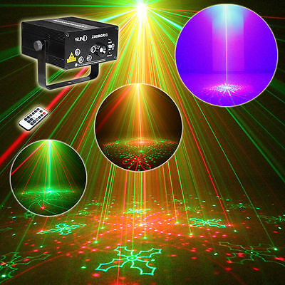 SUNY 5 Lens RG 80 Pattern Projector Laser Stage Light BLUE LED Home Family Party