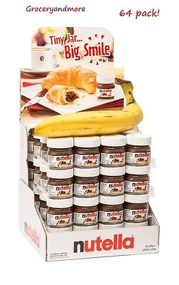 NUTELLA MINI 25g x 64 Pk Glass Jar Ferrero Hazelnut Chocolate Cocoa Cute Limited