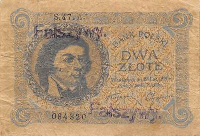 Poland  2 Zlote  28.2.1919 P 52  Series S.47.A  circulated Banknote