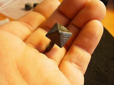 Rare! Ancient Roman Or Avaryan Pyramid Ring