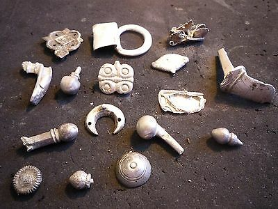 Rare ! Ancient Roman And Other Silver Things Decorations Amulets