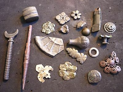 Rare ! Ancient Roman And Otherbronze  Things Decorations Amulets