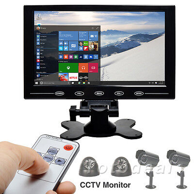"""9"""" TFT LCD CCTV Monitor Touch Button HD Screen HDMI Video PC Display w/h Speaker"""