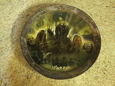 "Lord of the Rings The Fellowship of the Ring Collector's 6.5"" Plate"