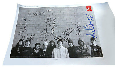éS Team Poster Hand-Signed 2003 Burnquist Koston Ladd Penny Skateboard