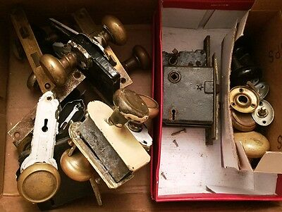 Vintage mortise locks and knobs ~LOT~