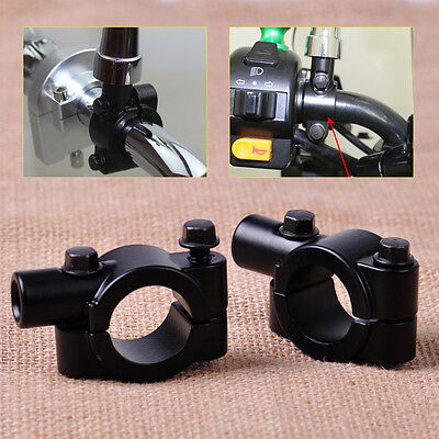 "Pair 7/8"" Handlebar Mirror Mount Holder Clamp Adaptor Thread Motorcycle Scooter"