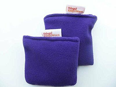 Microwavable Pair of Hand Warmers T2K Purple- Non Scented Wheat Warmer