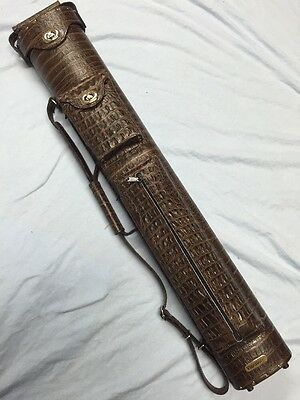 Vincitore Brown Croc Embossed Leather 3 Butt 5 Shaft 3x5 W/ Jump Butt Pocket