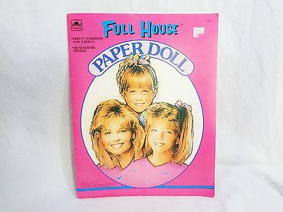 New Full House Paper Doll Book DJ Stephanie & Michelle Pre-cut Dolls Outfits