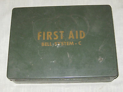 Bell Systems First Aid Kit C Vintage Antique