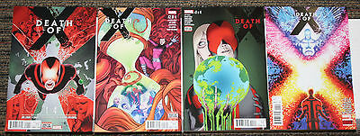 Marvel Death of X # 1-4 COMPLETE SET - All 1sts Death of Cyclops! Leads Into IvX