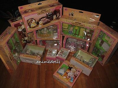 Sylvanian Families Calico Critters HUGE LOT 13 NRFB Furniture Sets w/ Figures