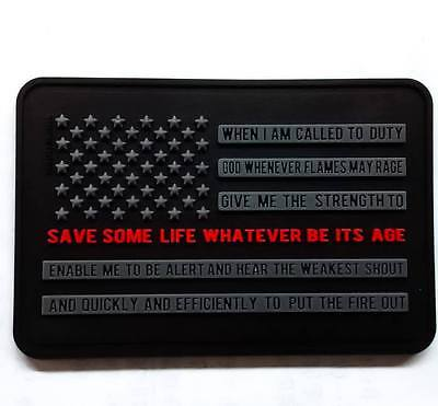 Thin Red Line 3D PVC Morale Patch Firefighter's Creed Integrity MoeGuns FD