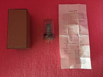 Lot Of 12 5894 Tube Glass Bulb Twin Beam