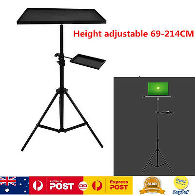 Adjustable Solid Steel Speaker Projector Laptop Tripod Stand With Mouse Tray
