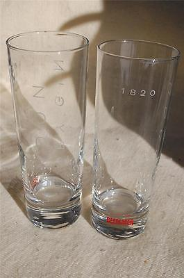 Set of 2 BEEFEATER London Dry Gin Tall Highball Cocktail Liquior Glasses