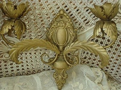 Beautiful French Medallion Acanthus Leaf Sconces for Candles *ROMANTIC*
