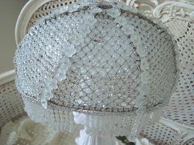 SALE! The Best X-Large French Beaded Dome Shade Incredible