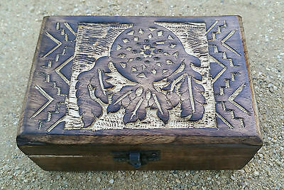 Crystal Box Wooden Carved Dream Catcher & Free program