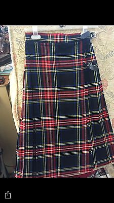 STOCK CLEARANCE TARTAN KILTS Ladies & Girls Skirts RRP £35 Now £7 Save £28 24/26