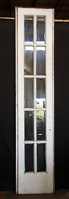 """2available 21.5""""x101"""" Antique French Solid Wood Door Wavy Glass Lite Pane Window"""