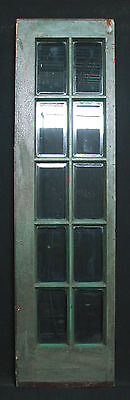 "22""x 80"" Antique Interior Exterior French Birch Door 10 Beveled Glass Lites"