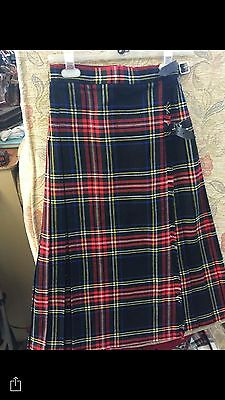STOCK CLEARANCE TARTAN KILTS Ladies & Girls Skirts RRP £35 Now £7 Save £28 36/24