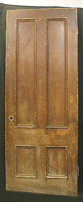 "2 avail 34""x87 Antique Victorian Interior Solid Wood Wooden Heartpine Door Panel"