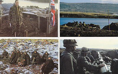 Set of 4 War in the South Atlantic Poscards