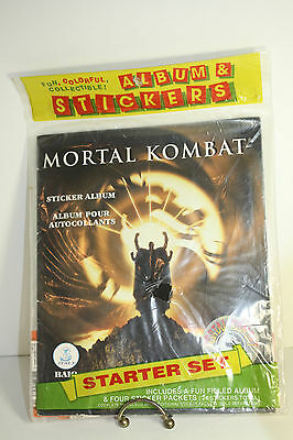Mortal Kombat Sticker Album New 1995 Baio Panini Includes 4 Packets 24 Stickers