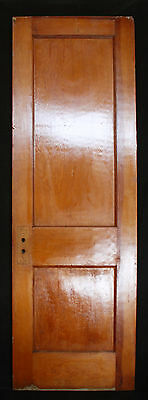 """3avail 26""""W Antique Arts Crafts Interior SOLID Wood Wooden Doors Recessed Panels"""