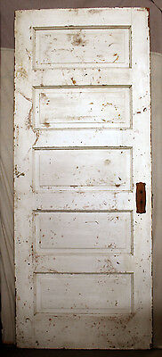 "32""x80 Antique Vintage Wood Wooden Interior Door Ladder Stacked Horizontal Panel"