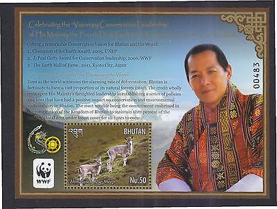 Bhutan 2015 Wwf (Animals) Souvenir Sheet Of 1 Stamp In Mint Mnh Unused Condition