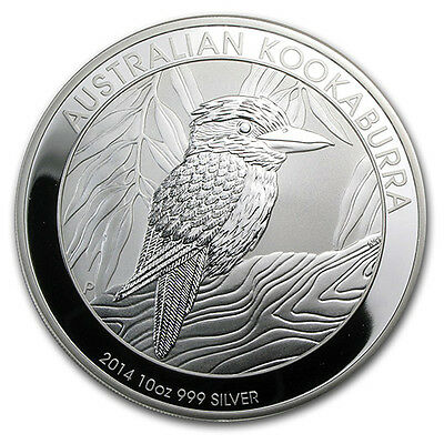 2014 Silver 10 oz Kookaburra Bullion Coin
