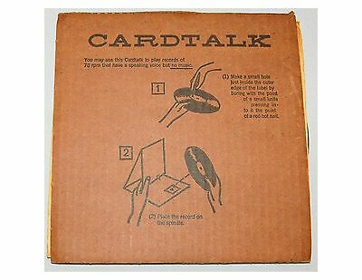Rare Cardtalk - record player with record-  rec 78 r.p.m AR 8583