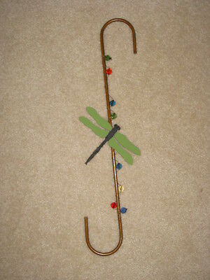 S Hook With Dragonfly & Colorful Beads