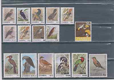 (Z-387) Zambia Various Birds In Perfect Condition U/mint